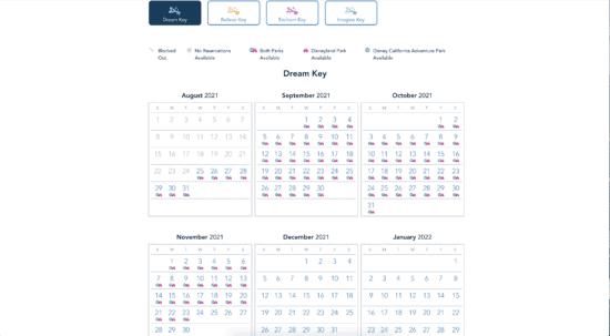 Dream Reservation Calendar