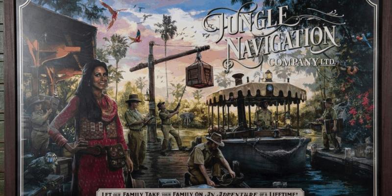 jungle cruise mural