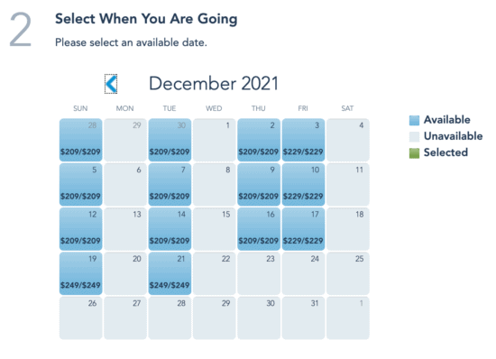 disney christmas after hours availability
