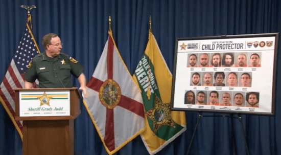 Sheriff Judd sharing Operation Child Protector Offenders