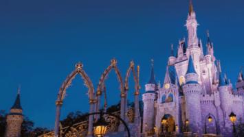 Cinderella Castle at night