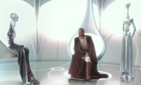 Lama Su, Obi-Wan Kenobi and Taun We on Kamino