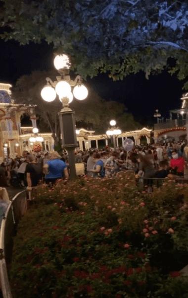Crowds at Magic Kingdom Boo Bash