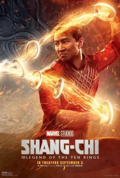 Shang-Chi using ten rings powers poster