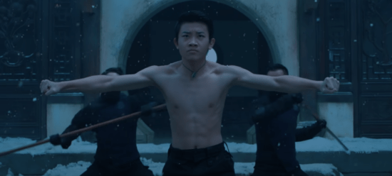 Young Shang-Chi being trained