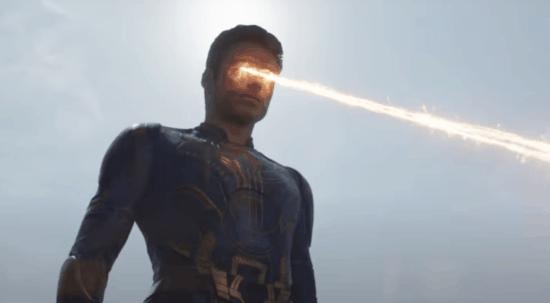 Richard Madden as Ikaris using powers in Eternals