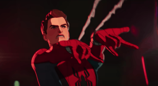 Spider-Man shooting webs in 'What If...?'
