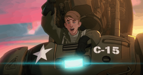 Steve Rogers in the HYDRA Stomper in What If...?