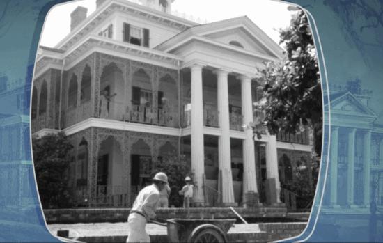 Haunted Mansion construction