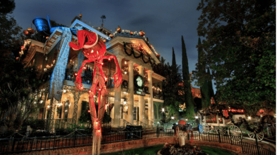 Haunted Mansion with Halloween Overlay