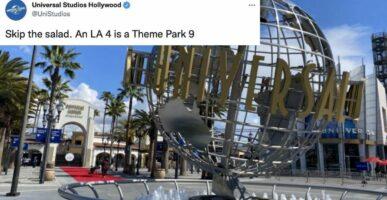 Universal Hollywood Tweet