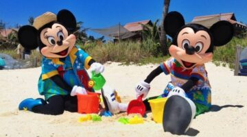 minnie and mickey at castaway cay