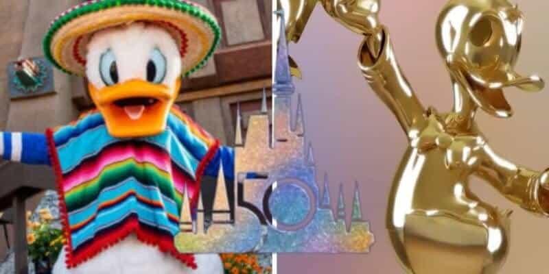 donald duck 50th statue