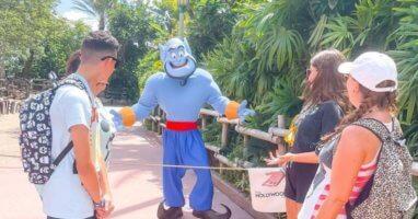 genie visiting disney world guests