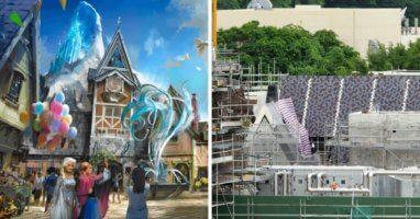 frozen land concept art and construction