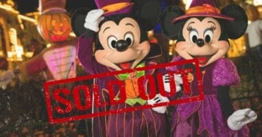 disney boo bash selling out