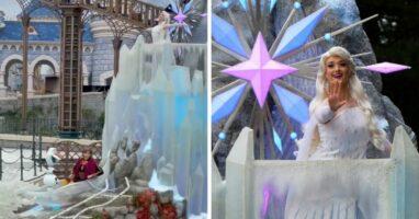frozen parade float disneyland paris