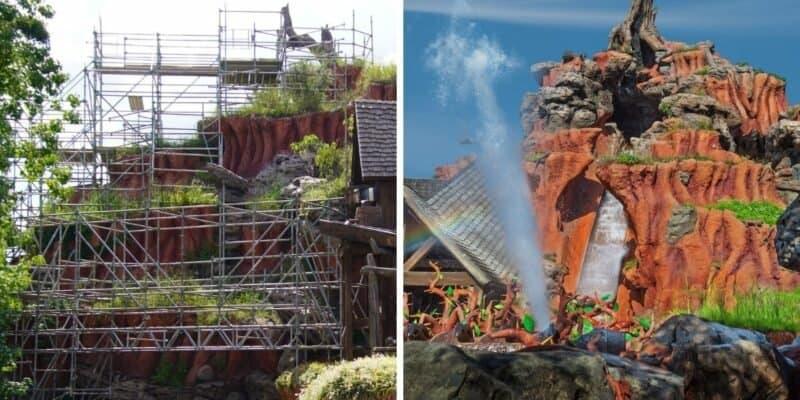 splash mountain scaffolding (left) splash mountain (right)