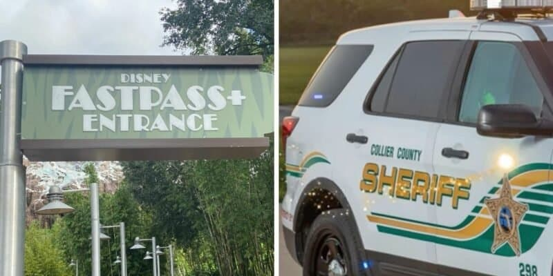 fastpass sign (left) collier county cop car (right)