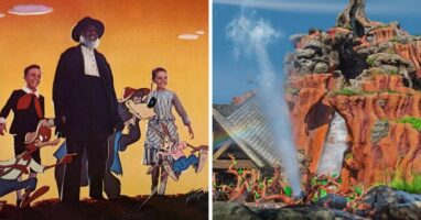 song of the south (left) splash mountain (right)