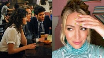 how i met your mother cast (left) and hilary duff (right)