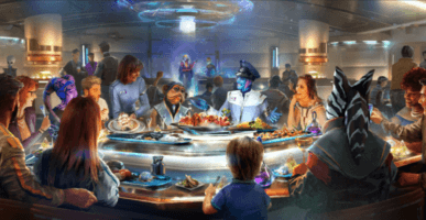 Captain's Table at Galactic Starcruiser