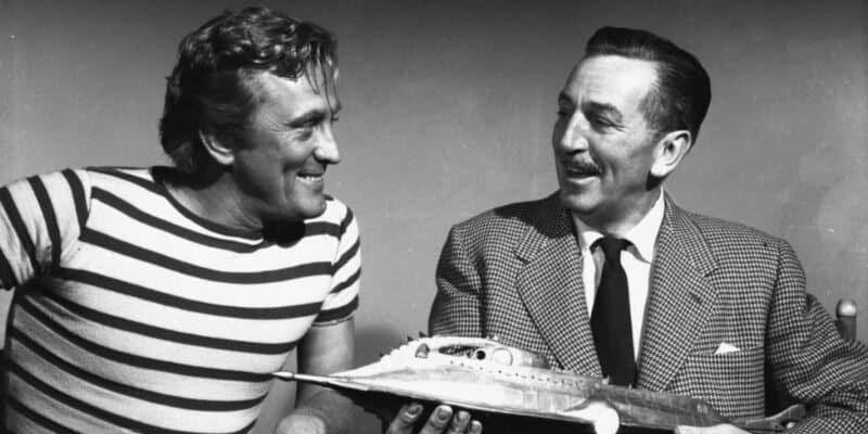 "Kirk Douglas and Walt Disney for ""20,000 Leauges Under the Sea"" (1954)"