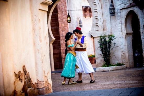 aladdin and jasmine at epcot