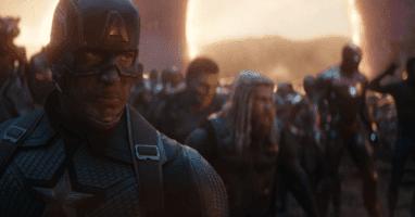 avengers endgame chris evans as steve rogers aka captain america front as avengers assemble
