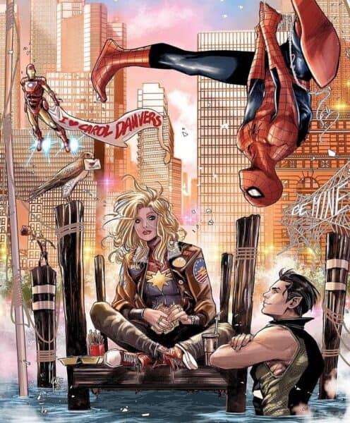carol danvers captain marvel speed date marvel comic iron man spiderman antman namor