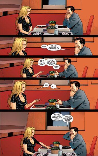 carol danvers ms marvel and peter parker spider-man awkward date marvel comics