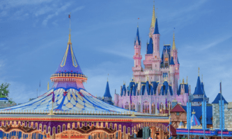carousel with cinderella castle