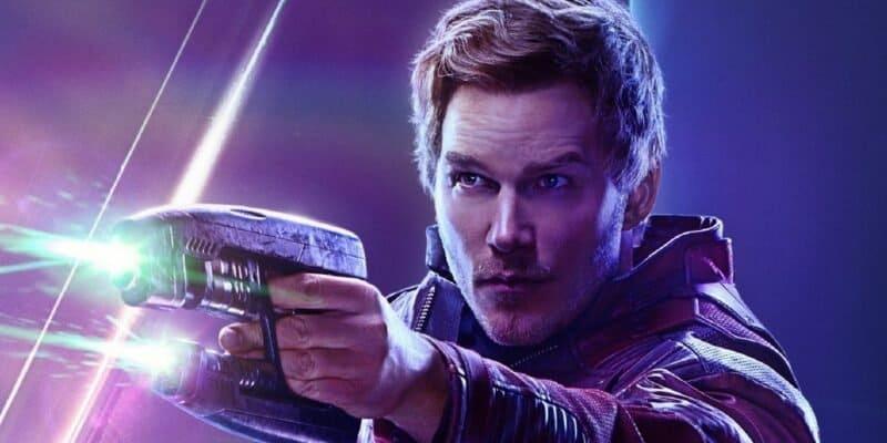 chris pratt as peter quill aka star-lord marvel avengers infinity war poster
