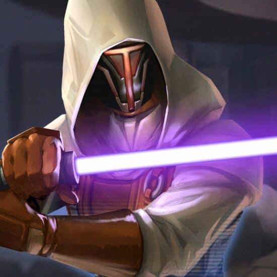 darth revan with lightsaber