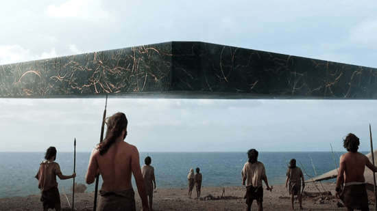 eternals trailer ship lands at dawn of time