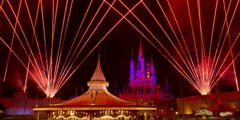 magic kingdom at night