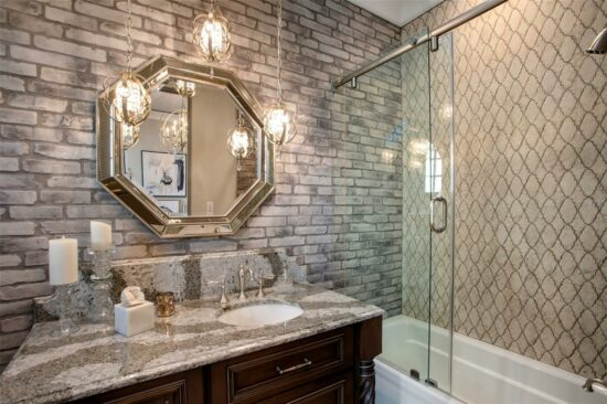 golden oak home guest bathroom 1