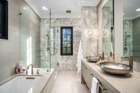 golden oak home guest bathroom 2