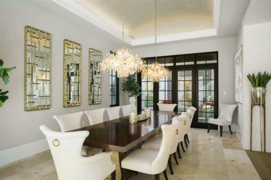 golden oak home dining room