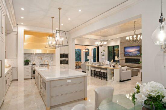 golden oak home kitchen