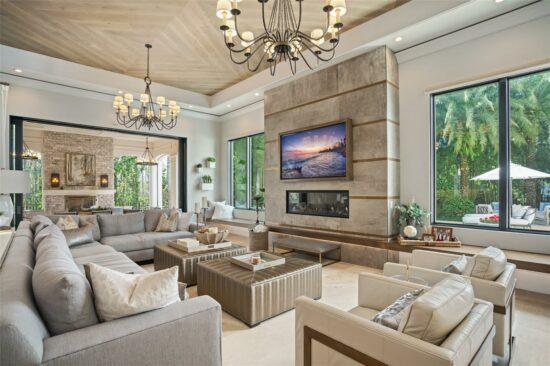 golden oak home living room