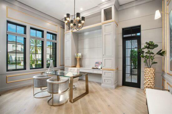 golden oak home office