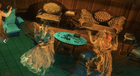 haunted mansion ballroom scene