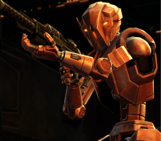 hk-47 holding weapon