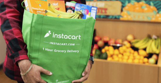 instacart grocery delivery to disney hotel with green bags