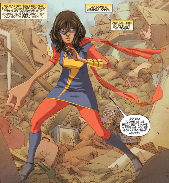 kamala khan aka ms marvel from marvel comics