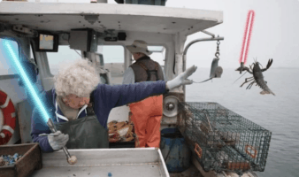 lobsterwoman with lightsaber