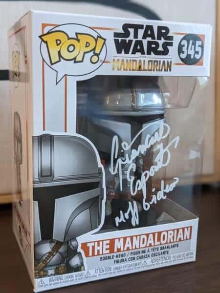 The Mandalorian Funko POP signed by Moff GIdeon