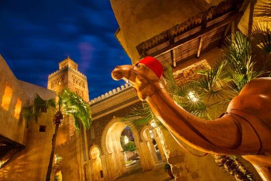 morocco disney pavilion with camel statue