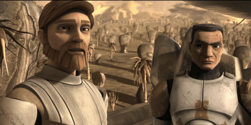 obi wan kenobi (left) and commander cody (right)